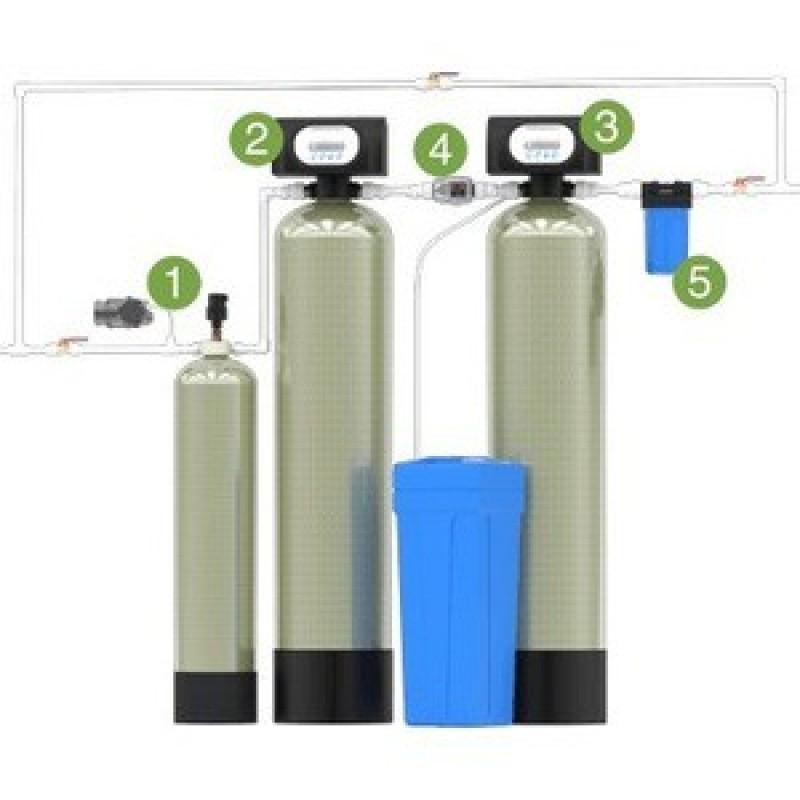 Гейзер Аэрация, обезжелезивание и умягчение 0,6 куб.м/час, 1-2 крана (Эконом)
