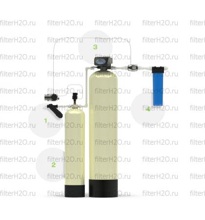Гейзер Аэрация и обезжелезивание 0,6 куб.м/час, 1-2 крана, Runxin