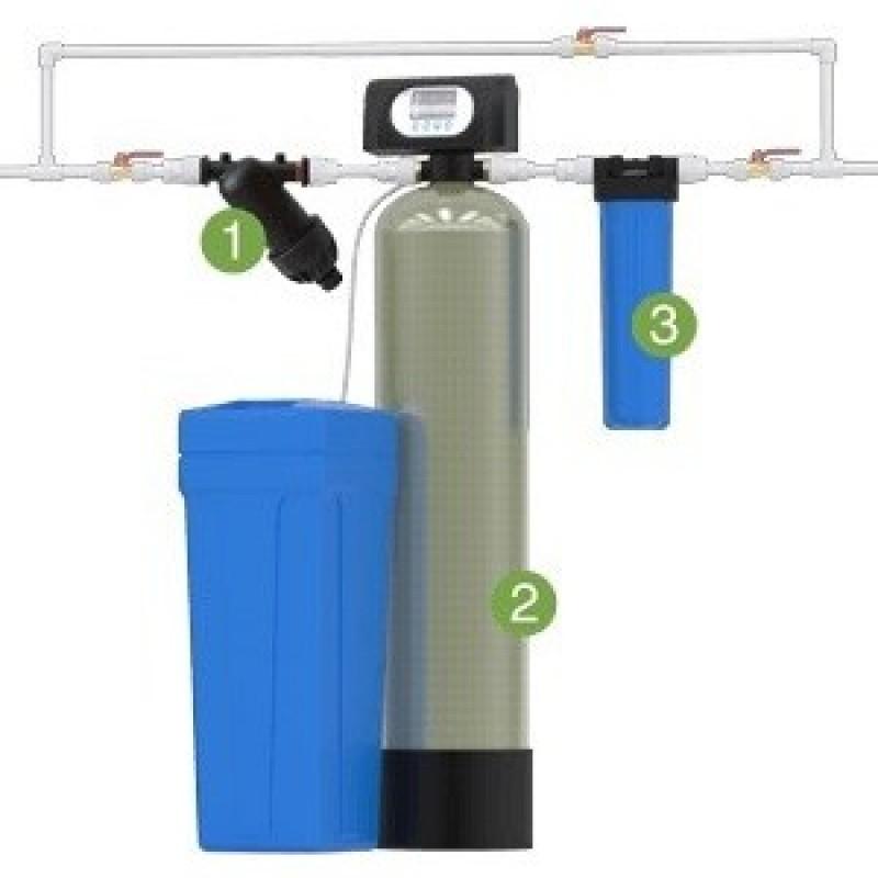 Установка для умягчения воды WS1054/F65P3-A (Puresin) с автоматической промывкой по расходу