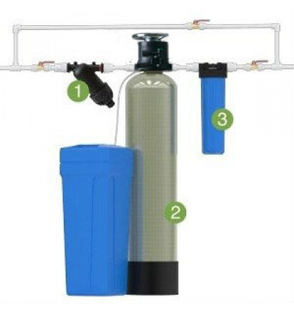 Установка для умягчения воды WS1044/М77 (Dowex) с ручным управлением