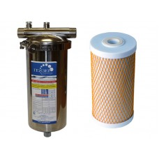 Фильтр магистральный Гейзер Тайфун 10 ВВ фильтр для холодной и горячей воды (32066)
