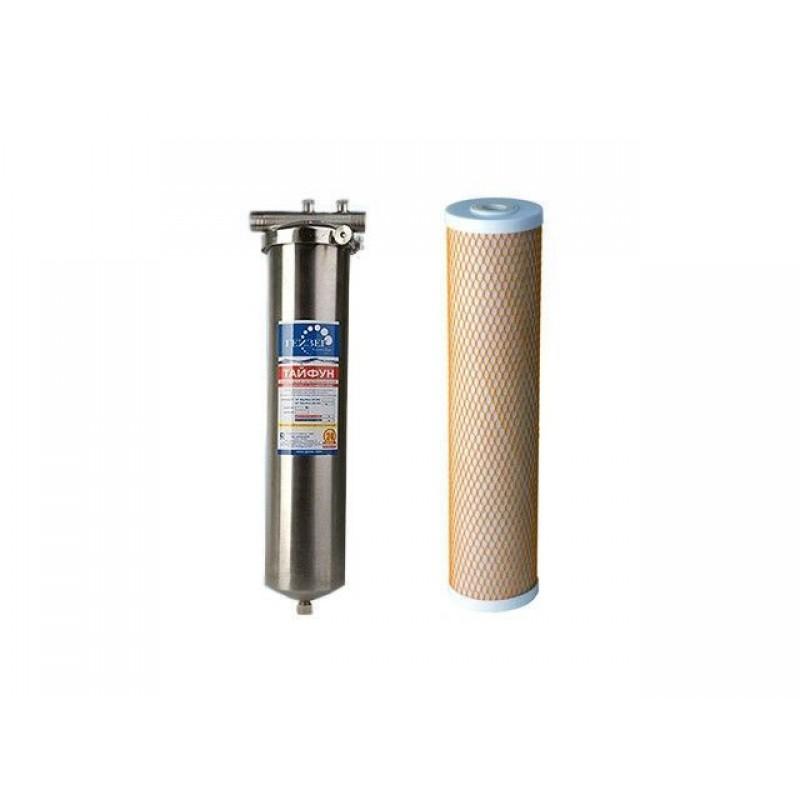 Фильтр магистральный Гейзер Тайфун 20 ВВ фильтр для холодной и горячей воды  (32067)